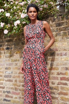 Phase Eight Pink Catarina Heritage Tulip Print Jumpsuit