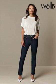 Wallis Petite Indigo Zip Pocket Jeans