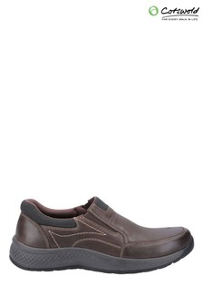 Cotswold Brown Churchill Slip-On Casual Shoes