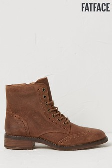 FatFace Brown Camilla Lace Up Boots