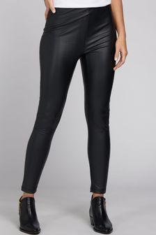 Barbour® International Black Galvez PU Trousers
