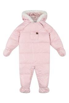 Baby Girls Pink Padded Snowsuit