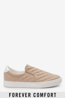 Nude Forever Comfort® Quilted Slip-On Trainers