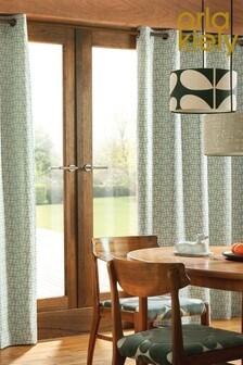 Orla Kiely Woven Acorn Cup Eyelet Curtains
