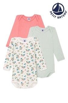 Petit Bateau Multicoloured Bodysuits 3 Pack