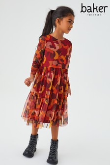Baker by Ted Baker Camouflage Midi Dress