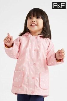 F&F Kids Pink Rainbow Faux Fur Lined Mac