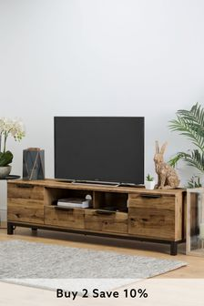 Oak Effect Bronx Superwide TV Stand