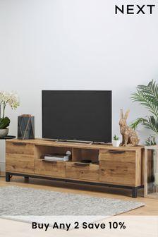Oak Effect Bronx Superwide TV Stand