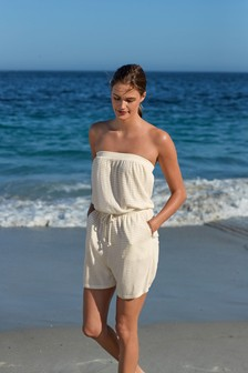 Cream Sparkle Pull-On Playsuit