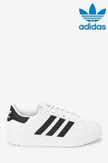 adidas Originals White/Black Court Novice Youth Trainers