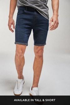Indigo Skinny Fit Denim Shorts