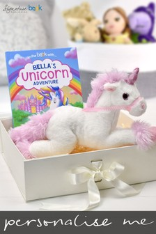 Personalised Unicorn Story Book And Plush Toy Gift Set by Signature Book Publishing