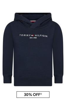 Tommy Hilfiger Boys Navy Cotton Hoodie