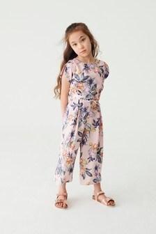 Pink Floral Jumpsuit (3-16yrs)
