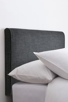 Simple Contemporary Charcoal Rosco Headboard