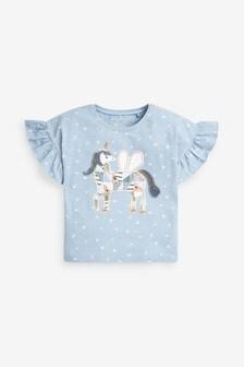 Blue Unicorn T-Shirt (3mths-7yrs)