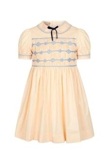 فستان قطن كريم بناتي