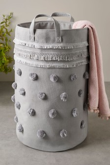 Pom Pom Tassel Laundry Bag