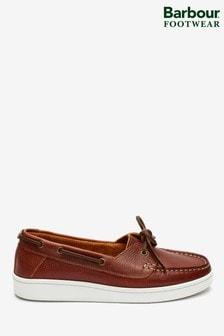 Barbour® Tan Miranda Boat Shoes