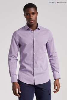Tommy Hilfiger Blue Gingham Flex Slim Shirt