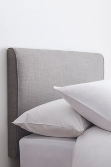 Simple Contemporary Silver Contemporary Headboard