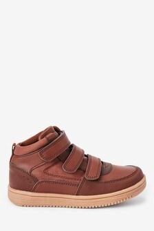 Chocolate Strap Touch Fasten Boots (Older)