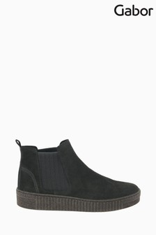 Gabor Lourdes Pepper Suede Basic Ankle Boots