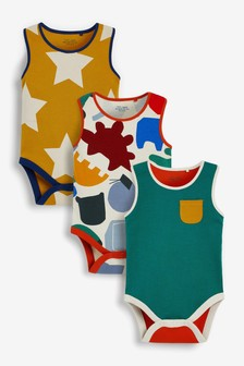 Bright Abstract 5 Pack Vest Bodysuits (0mths-3yrs)