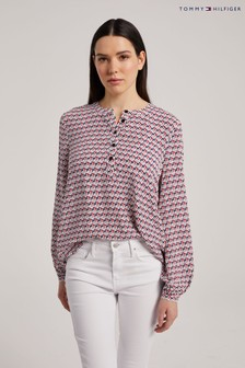 Tommy Hilfiger Red Popover Blouse