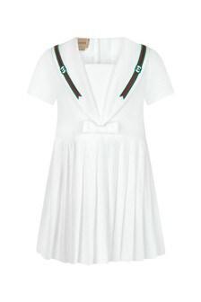 GUCCI Kids Baby Girls White Cotton Dress