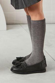 Grey 3 Pack Knee High Socks