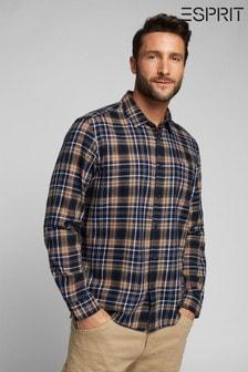 Esprit Blue Mens Check Shirt