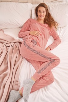 Pink Cotton Blend Pyjamas