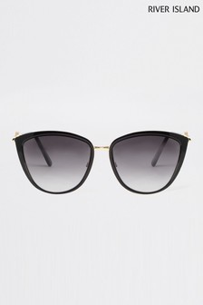 River Island Black Mabel Enamel Lens Glam Sunglasses