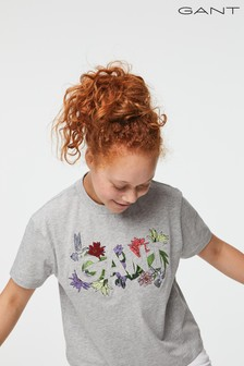 GANT Teen Girls Flower Logo T-Shirt