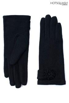 HotSquash Women's Black Gloves