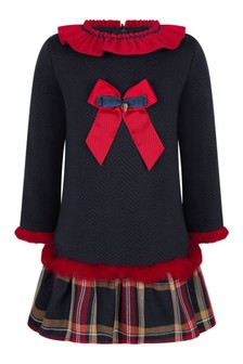 Miranda Girls Navy/Red Dress
