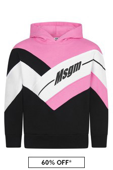 Girls Pink Cotton Hoody