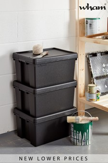 Set of 3 Bam 16L Heavy Duty Recycled Boxes by Wham