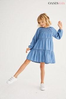 Oasis TENCEL™ Tiered Dress