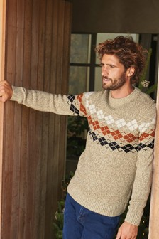 Oatmeal Pattern Jumper
