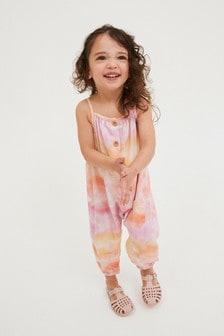 Pink Bright Tie Dye Playsuit (3mths-7yrs)