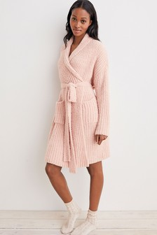Pink Knitted Robe