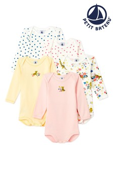 Petit Bateau Multicoloured Bodysuits 5 Pack