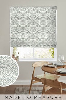 Tamsin Seafoam Gold Made To Measure Roman Blind