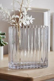 Oblong Glass Vase
