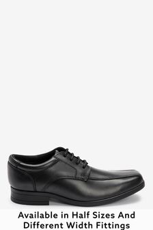Black Standard Fit (F) Leather Lace-Up Shoes (Older)
