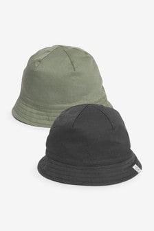 Multi 2 Pack Bucket Hats (0mths-2yrs)