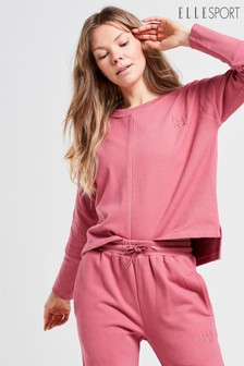 ELLE Sport Yoga Garment Washed Crew Neck Co-ord Sweater